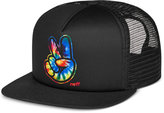 Neff Men's Jackson Black Graphic-Print Logo Trucker Hat