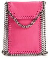 Stella McCartney 'Falabella' Faux Leather Crossbody Phone Pouch - Black