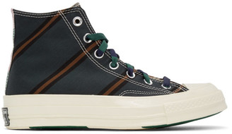 Converse Green and Orange Chuck 70 High Sneakers