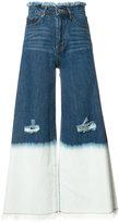 Miharayasuhiro wide-legged ripped cropped jeans - women - Cotton - 36