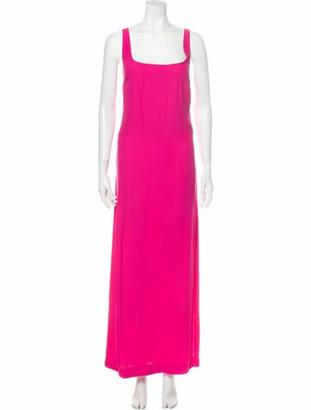 STAUD Square Neckline Long Dress w/ Tags Pink