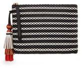 Brian Atwood Gia Straw Wristlet Bag