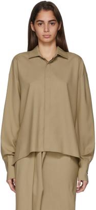 A.W.A.K.E. Mode Beige Business Woman Shirt