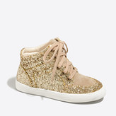 J.Crew Factory Girls' glitter high-top sneakers