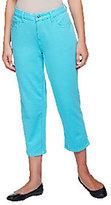 As Is Quacker Factory DreamJeannes Knit Denim Crop Jeans
