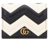 Gucci Women's White/black Leather Card Holder.