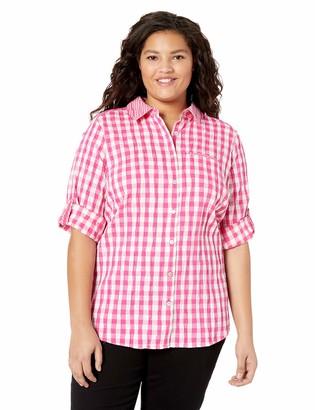 Foxcroft Women's Reese Crinkle Gingham Shirt