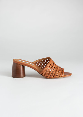 And other stories Woven Leather Heeled Sandals
