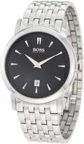 HUGO BOSS Men's 1512720 Silver Stainless-Steel Quartz Watch with Dial