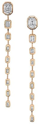 Shay Sticks & Stones 18K Yellow Gold & Diamond Baguette Illusion Drop Earrings