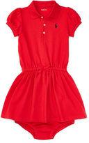 Ralph Lauren Girl Cotton Polo Dress & Bloomer