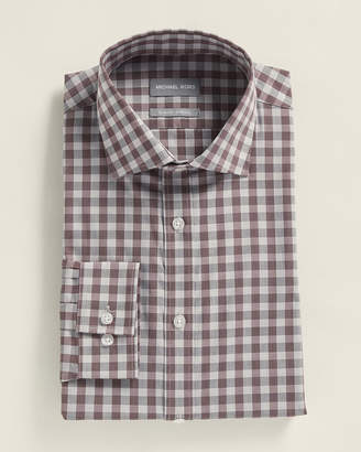 Michael Kors Slim Fit Stretch Gingham Dress Shirt