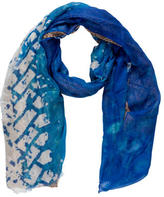 Yigal Azrouel Tire Marks Printed Scarf w/ Tags
