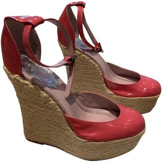 Red Valentino Garavani Pink Patent leather Espadrilles