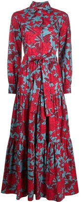 La DoubleJ Bellini tie-waist floral shirtdress