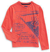 Guess Long Sleeve Text Graphic Tee