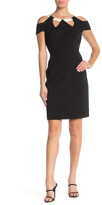 Shani Cutout Crepe Dress