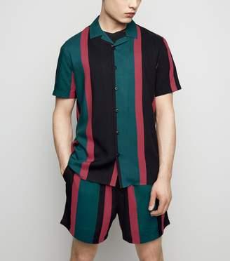 New Look Vertical Stripe Tie Waist Shorts