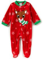 Baby Starters Baby 3-9 Months Christmas Reindeer Footed Coverall Pajamas