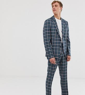 Noak slim sb2 notch suit jacket in check