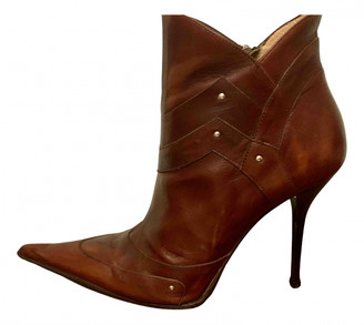 Gianmarco Lorenzi Brown Leather Ankle boots