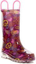 Western Chief Peace and Lover LED Waterproof Boot (Toddler & Little Kid)