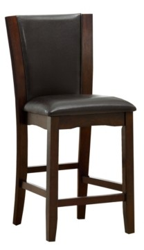 Furniture of America Waverly Dark Cherry Counter Stool (Set of 2)