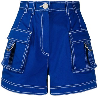 Balmain High-Waisted Denim Shorts