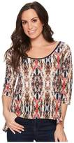 Roper 1386 Glitzy Print 3/4 Sleeve Tunic Women's Long Sleeve Pullover