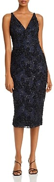 Aqua Sequin Lace Sheath Dress - 100% Exclusive