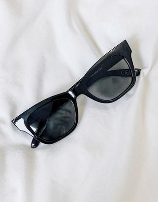 ASOS DESIGN square cat eye sunglasses