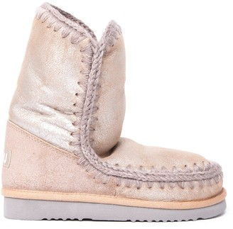 Mou Eskimo 24 Light Pink Leather Ankle Boots