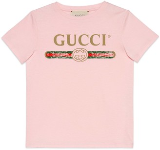 Gucci Children's cotton T-shirt with logo