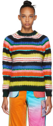 AGR SSENSE Exclusive Multicolor Brushed Mohair Striped Sweater