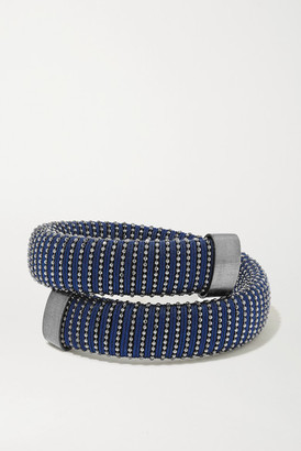 Carolina Bucci Caro Blackened Sterling Silver And Cotton Bracelet