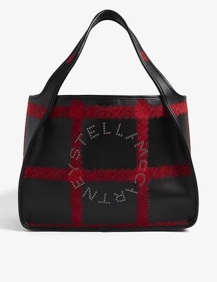 Stella McCartney Circle-logo vegan-leather tote