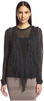 Torn By Ronny Kobo Women's Saskia Fringe Sweater