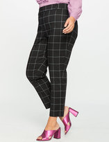 ELOQUII Plus Size Kady Fit Windowpane Pant