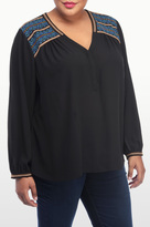 NYDJ Embroidered Top In Plus