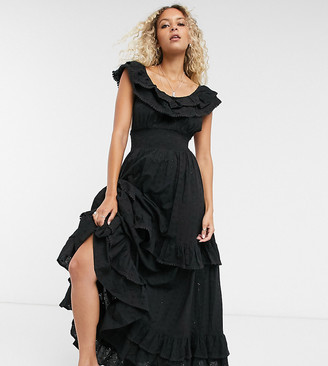 Reclaimed Vintage inspired tiered maxi dress in broderie