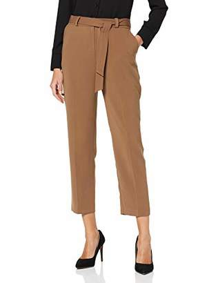 Dorothy Perkins Women's Caramel Tie Trousers,(Size:)