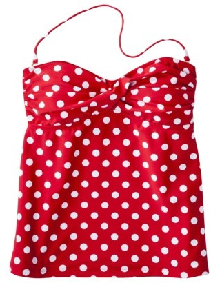 Mossimo Women's Mix and Match Dot Tankini Swim Top -Tomato
