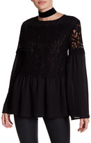 Do & Be Do + Be Bell Sleeve Lace Blouse