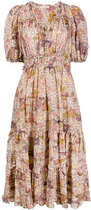 Ulla Johnson floral print V-neck dress