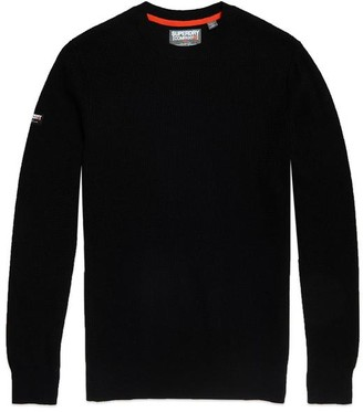 Superdry Academy Crew Knit Black - Medium