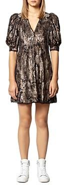 Zadig & Voltaire Royals Sequin Camo Mini Dress