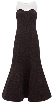 Vika Gazinskaya Sleeveless Trumpet Dress - White Black