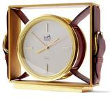 Banana Republic Luxe Vintage Hermes Burgundy Gold Clock