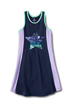 Classic Girls Plus Racerback Knit Tank Dress-Vivid Grape