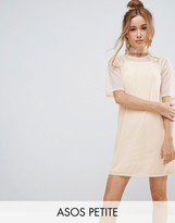 Asos Mesh T-Shirt Dress With Cami